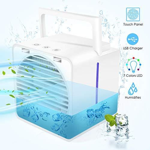 Mini Air Conditioner Portable Mini Cooler Upgrade Model Air Conditioner With Usb Mini Desktop Table Fan With 3 Di In 2020 Mini Cooler Air Cooler Portable Air Cooler