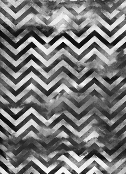 PATTERN | Chevron Storm | Art Print in Black & White