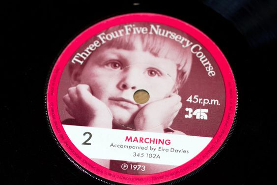 45 r.p.m  Number 2 Marching & The Three bears Three Four Five Nursery Course Record series