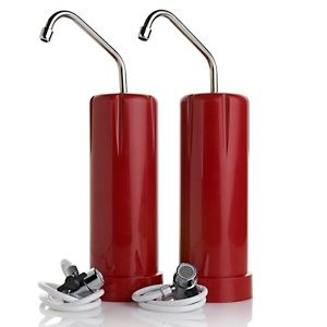 Clean & Pure Countertop Water Filter 2-pack - Red, White or Black at HSN.com.