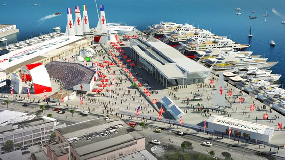 America's Cup - San Francisco 2013:  future look of Piers 27-29 for the event