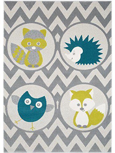 Popular benuta Teppiche Kinderzimmer Kinderteppich Forest Friends Gr n x cm GuT Siegel