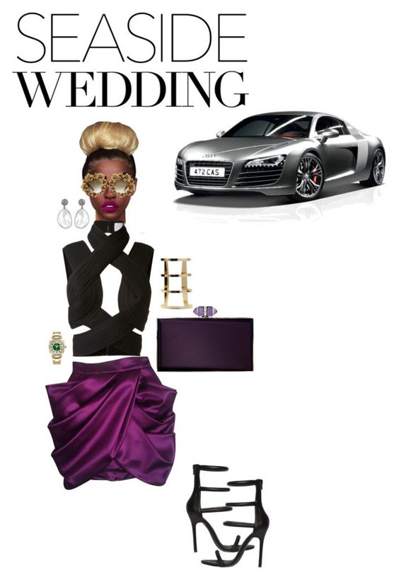"""""""wedding day"""" by neide-goncalvesbrito on Polyvore featuring mode, Balmain, Dion Lee, Lime Crime, A-Morir by Kerin Rose, Nasty Gal, Judith Leiber et Rolex"""