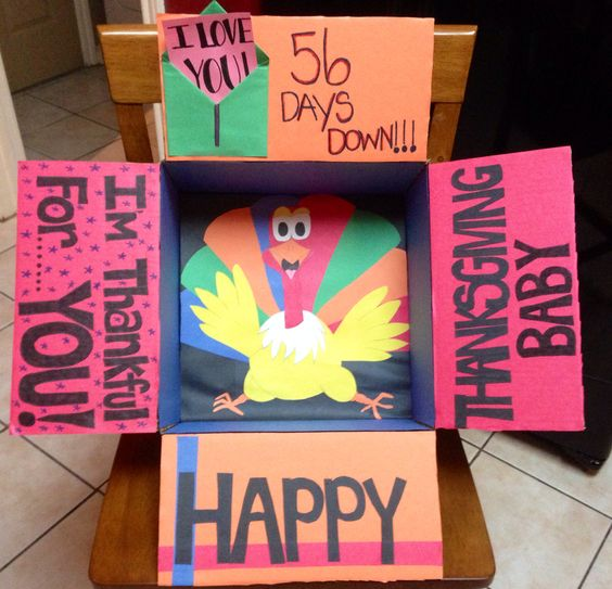 Countdown turkey care package, the perfect care package to send right before thanksgiving - - Thanksgiving care package ideas - TodayWeDate.com