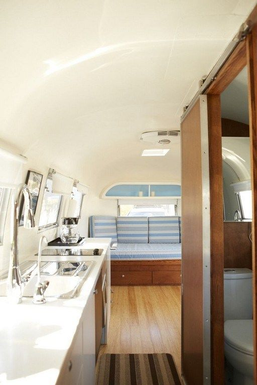 30 Awesome Luxurious Airstream Interior Ideas Go Travels Plan Airstream Interior Airstream Renovation Airstream Trailers
