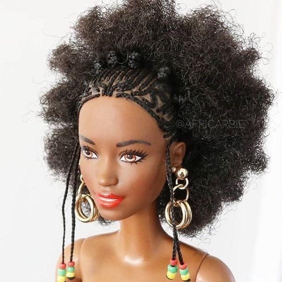 Poupee Africaine Cheveux Crepus Estime De Soi Barbie Noire Coiffure Et Beaute Cheveux Naturels