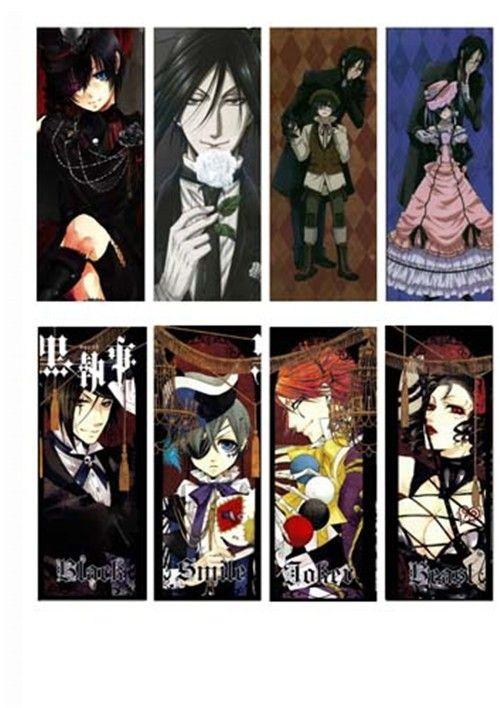 aliexpresscom buy anime waterproof cool black butler kuroshitsuji ciel phantomhive sebastian pvc translucent bookmark for school office from re