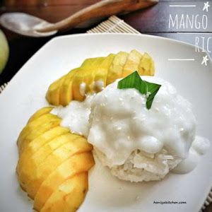 Resep Mango Sticky Rice Ketan Mangga Khas Thailand Makanan Dan Minuman Resep Masakan Makanan
