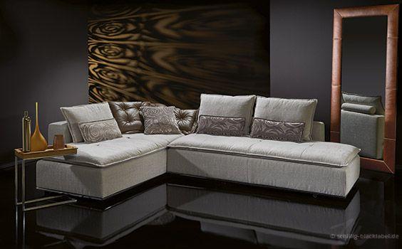 exclusive sofas aus der kollektion black label von w schillig. Black Bedroom Furniture Sets. Home Design Ideas