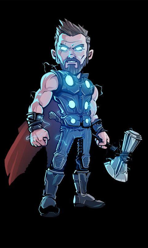 Download 480x800 Wallpaper Thor Glowing Suit Artwork Nokia X X2 Xl 520 620 820 Samsung Galaxy Star A Marvel Comics Wallpaper Chibi Marvel Marvel Thor
