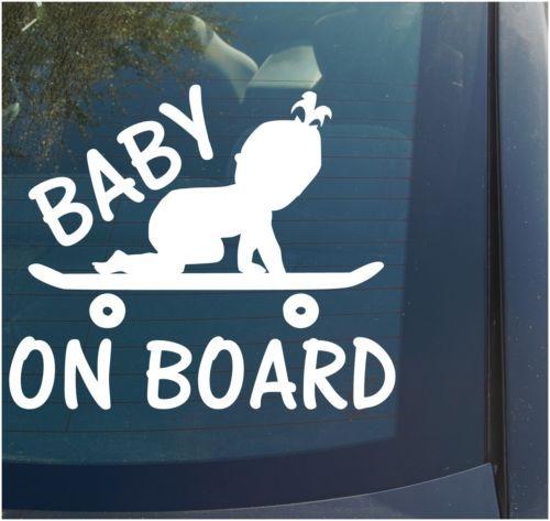 Baby On Board Vinyl Decal Sticker Boy Girl Funny