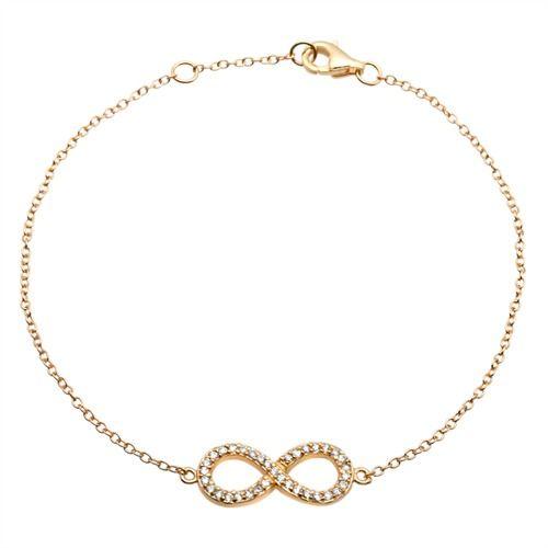 Filigrane-vergoldetes Silberarmband Infinity SB0161