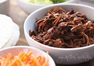 Mexican Shredded Beef.  This is perfect as a filling for Burritos, Tacos and Tostadas or serve it over rice. It is also excellent on Buns (go small and make Sliders).    Simply combine 3 pds of stew beef and 1 can of cream of celery soup with 1 can of green chilies (4 oz).    Cook in Crockpot about 8 hours.    Use a po
