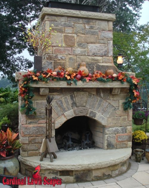 Outdoor Stone Fireplace Plans | Outdoor Fireplaces Smith Mt Lake, Winston Salem, Summerfield