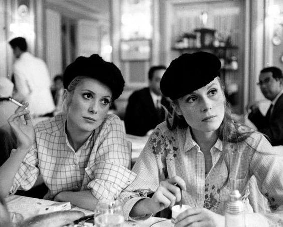 Catherine Denevue et sa soeur Françoise Dorléac