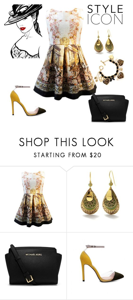 """""""Untitled #1349"""" by krissybob ❤ liked on Polyvore featuring Silver Forest, MICHAEL Michael Kors and Betsey Johnson"""