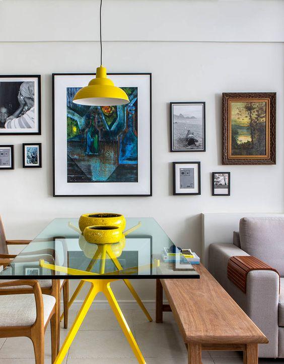 Sala jantar e estar (De Milla Holtz Arquitetura)