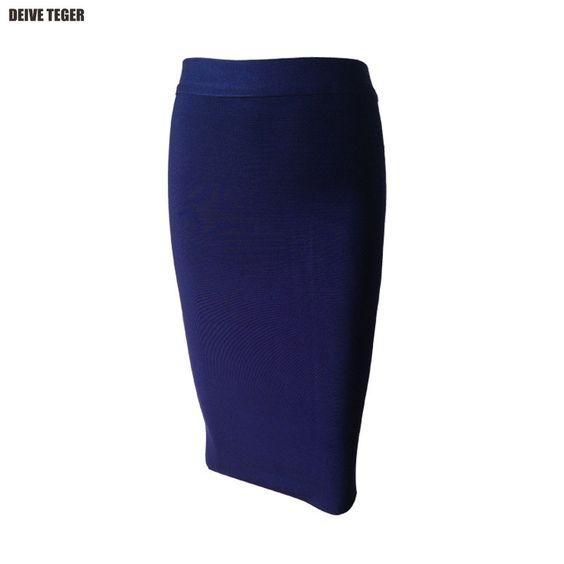New Bandage Skirt Women Knee-Length Skirts