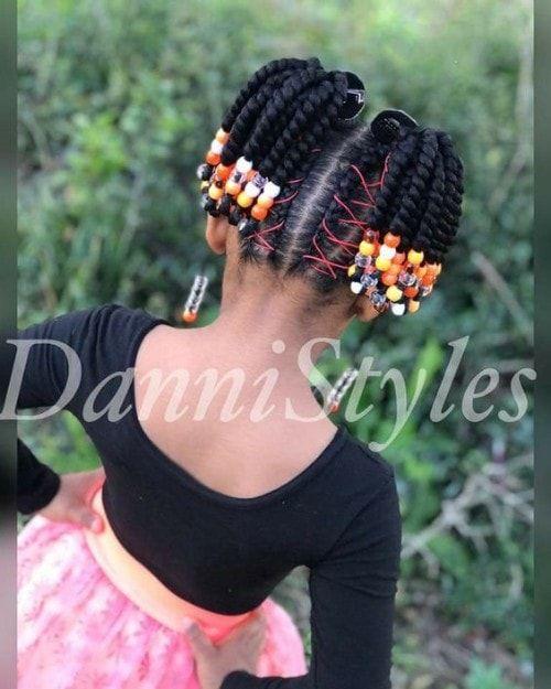Black Kids Hairstyles With Braided Beads Black Kids Hairstyles