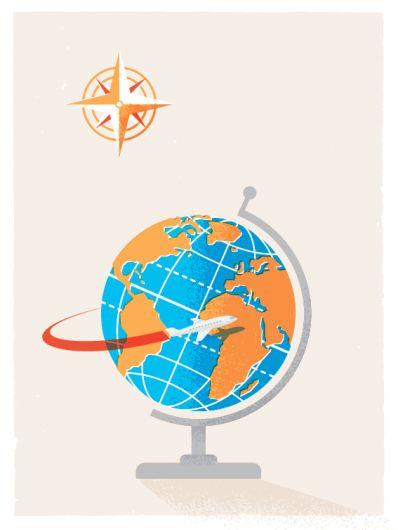 globe / travel / plane