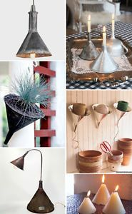 I'm a fan of creative reuse--and after years of upcycling all kinds of junk into items for my home, I now see all kind of objects in a new light. Here are a few of my favorite items turned into new pieces...