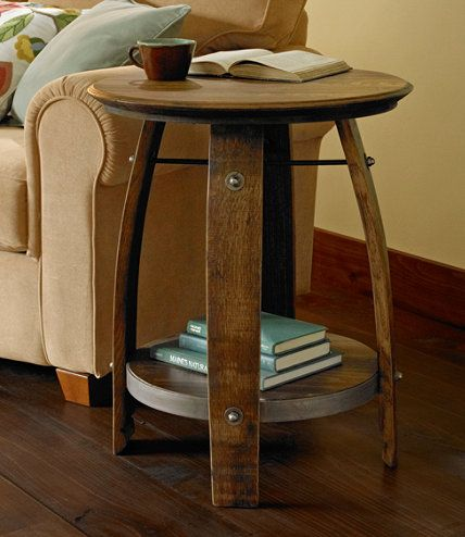 Rustic Wooden Accent Table from L.L. Bean for the family room ...