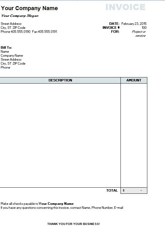 Excel Invoice Template Useful Links Pinterest Template and Craft - name and phone number template