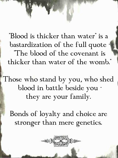 blood is thicker than water english essay