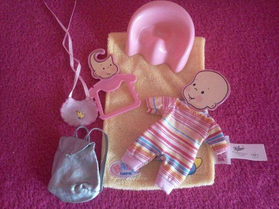 Miniworld Baby Born 7 teiliges Bekleidungs  - Rucksäckchen Set