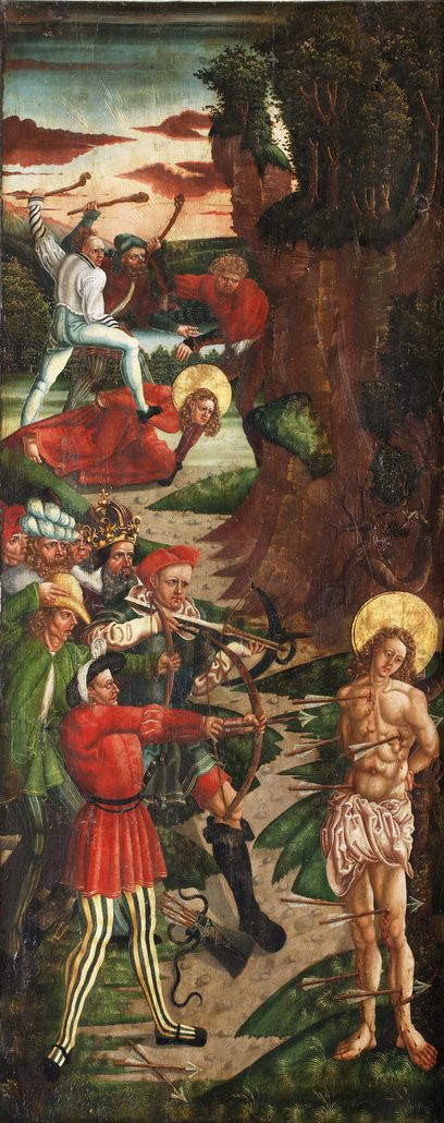 Hans Raphon - The Martyrdom of Saint Sebastian (1512) Sodomites with Unpleasant Accents : Photo