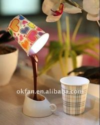 Poured Coffee Cup Table Lamp