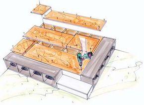 Bett mit stauraum 140x200 selber bauen  Podest selber bauen - Bauanleitung mit Bildern | Aufbewahrung ...