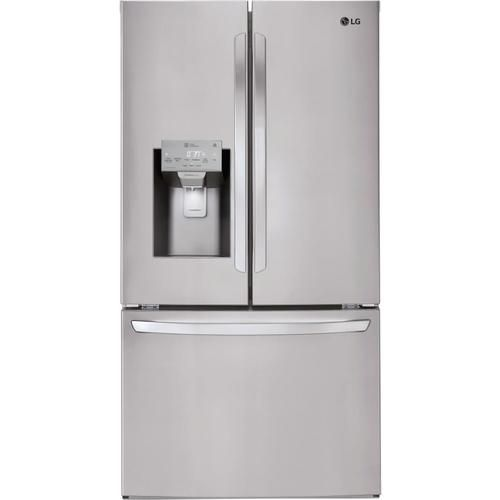 Shop Lg Smartthinq 27 9 Cu Ft French Door Refrigerator With Ice