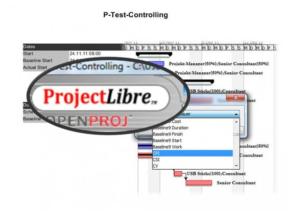 Projektmanagement Tools Projekt Controlling mit #ProjectLibre