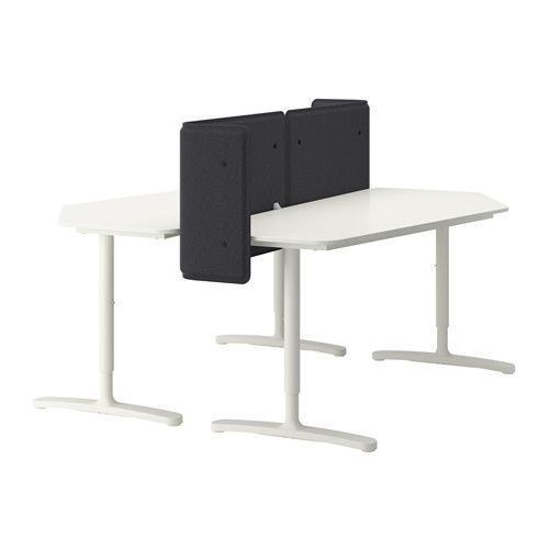 BEKANT Desk with screen   white  63x63 21 5 8     IKEA. BEKANT Corner desk left sit stand  white   Stains  Cable and Sit