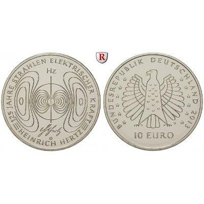Bundesrepublik Deutschland, 10 Euro 2013, Heinrich Hertz, G, bfr.: Kupfer-Nickel-10 Euro 2013 G. Heinrich Hertz. bankfrisch 14,50€ #coins