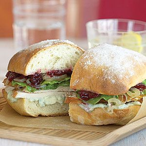 10 ways to love leftovers | Turkey Sandwiches with Shallots, Cranberries, and Blue Cheese