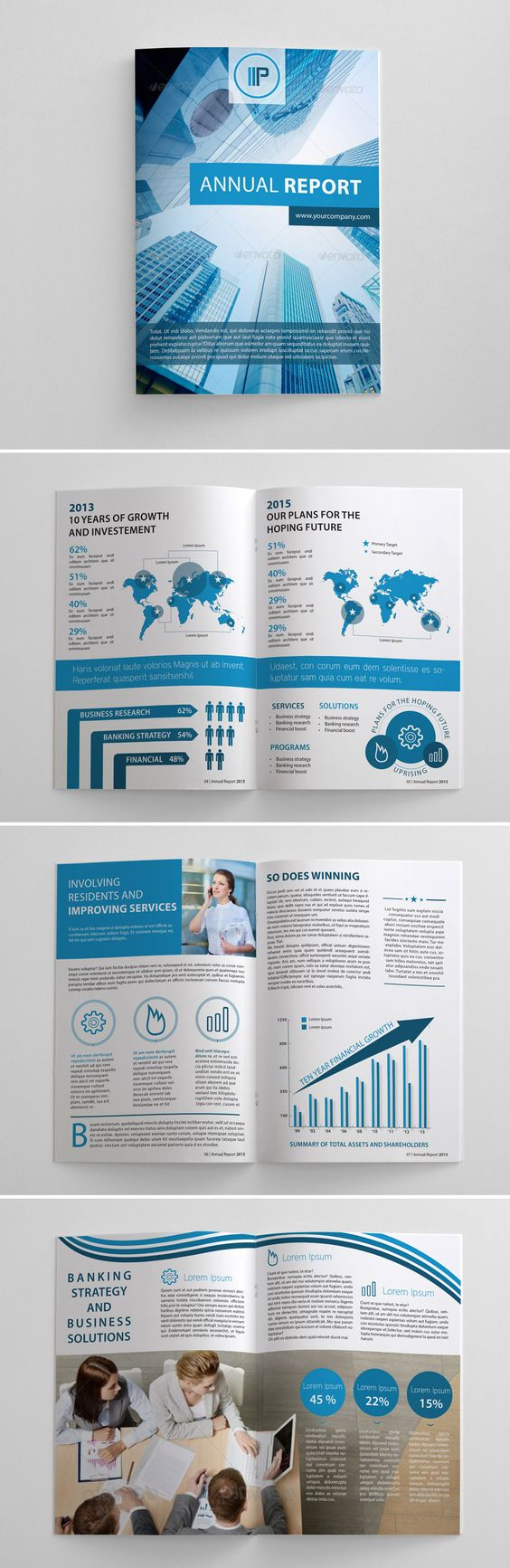 Accent colors Graphics and Colour – Annual Report Brochure