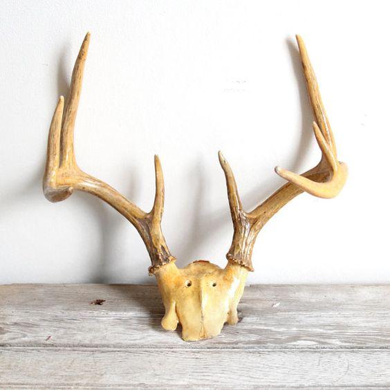 vintage large golden deer antlers. noticing a trend. $32