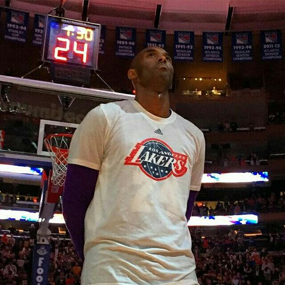 @kobebryant focuses on today's game at The Garden.