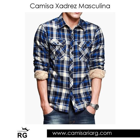 Camisa Xadrez Masculina. Mais de 20 modelos em Promoção! www.camisariarg.com/camisa-xadrez-masculina-azul-14-49-n.html