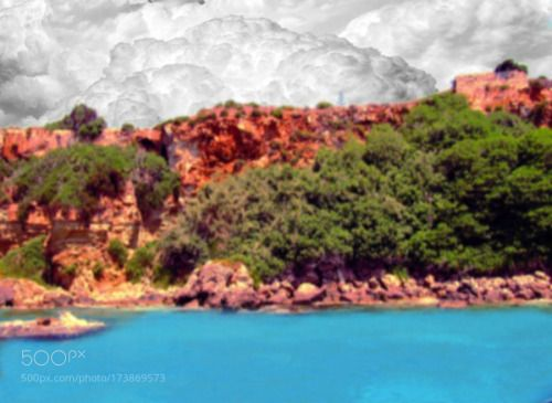 greece by vlozano  mar cielo paisaje nubes costa paisaje marino grecia vegetacion vlozano