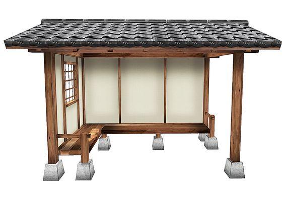 My Oriental Garden | Japanese Garden Shed, Japanese Garden Bench, Japanese Garden Shelter, Japanese Garden Koshikake, Japanese Summer House, Style, Lifestyle, Yokaze
