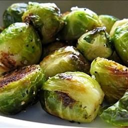 Roasted Brussels Sprouts on BigOven: Super easy and deeply flavorful. Roasting makes the Brussels sprouts all crispy and carmelized on the outside while the insides are perfectly tender with none of the bitterness typically found in brussel sprouts. The roasting also gives them a sweeter flavor than they get when sauteed, steamed, or boiled.