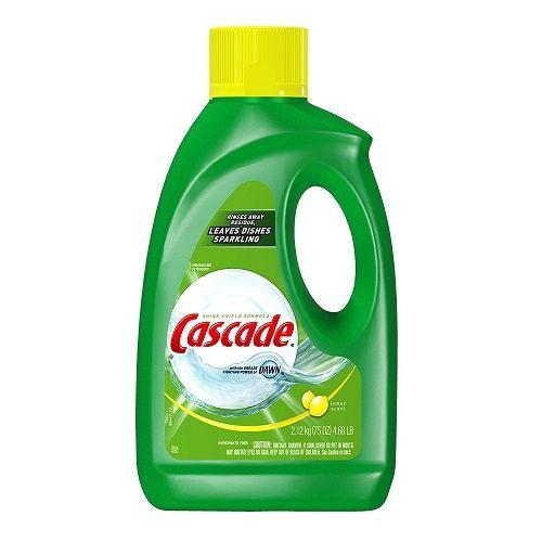 Cascade Gel Dishwasher Detergent Lemon Scent 75 Ounce Dishwasher Detergent Best Dishwasher Detergent Gel Dishwasher Detergent