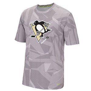 "Pittsburgh Penguins Reebok NHL 2015 Center Ice ""TNT"" S/S Performance Shirt: Amazon.co.uk: Sports & Outdoors"