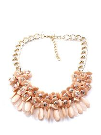 Flowers Crystal Delicate Womens Necklace img