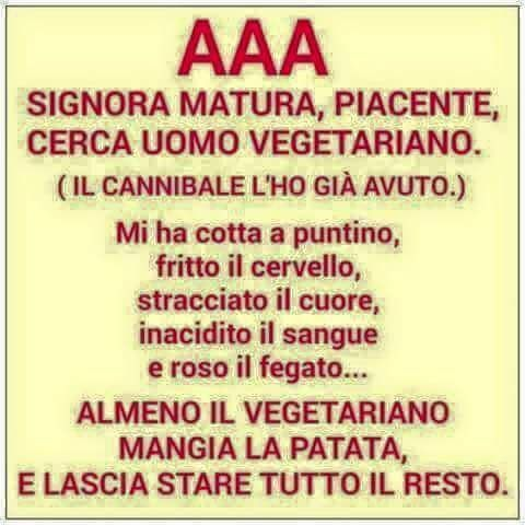 AAA CERCASI UOMO VEGETARIANO in 2020 | Funny quotes, Funny blogs,  Inspirational words