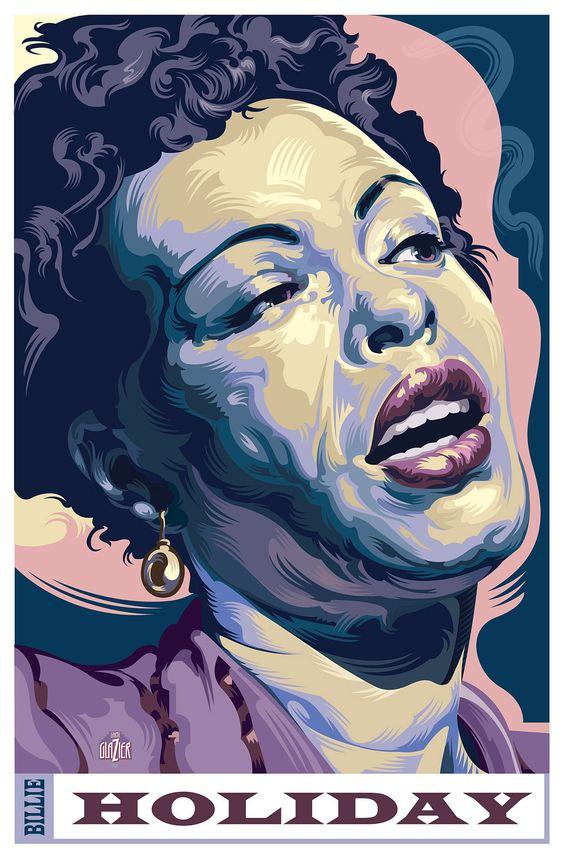 Billie Holiday - Illustration by Garth Glazier