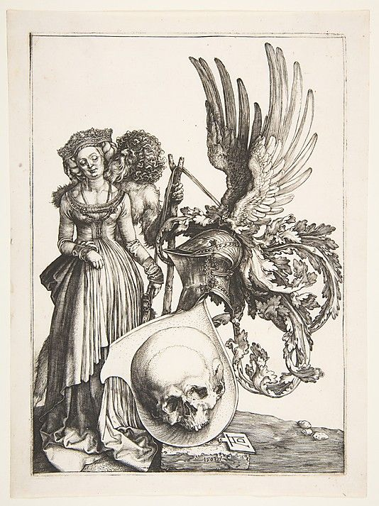 Albrecht Dürer (German, Nuremberg 1471–1528 Nuremberg). Coat of Arms with a Skull, 1503. The Metropolitan Museum of Art, New York. Fletcher Fund, 1919 (19.73.113)  #skull #Halloween: